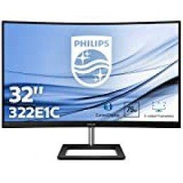 "Philips 322E1C/00 Monitor 31.5"" Curvo FHD (1920 x 1080 Pixeles, 4 ms, FreeSync/AdptiveSync, FlickerFree, HDMI, Displayport)"