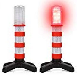 LTC 2 unidades) LED Luz de advertencia de peligro Luz Set con reflector coche Blitzer de advertencia Señal Lámpara antipinchazos ayuda con 3 Modo para Auto Emergencia Primeros Auxilios Naranja