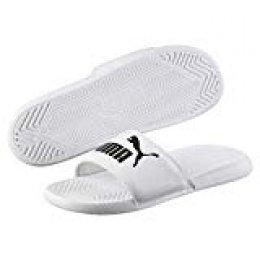 PUMA Popcat, Zapatos de Playa y Piscina Unisex Adulto, White Black, 44.5 EU