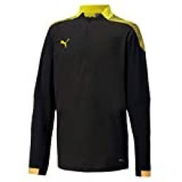 PUMA Ftblnxt 1/4 Zip Top Jr Sudadera, Niños, Black-Ultra Yellow, 152
