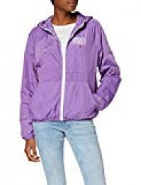 Tommy Jeans Mujer Garment Dye Hooded Zipthru Chaqueta   Morado (Hyacinth 580) X-Large