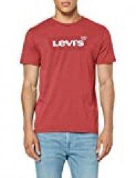 Levi's Housemark Graphic tee Camiseta, Rojo (Hm Ssnl Tonal Earth Red 0276), M para Hombre