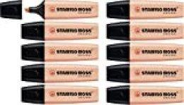 Marcador STABILO BOSS Original Pastel - Caja con 10 unidades - Color melocotón sedoso