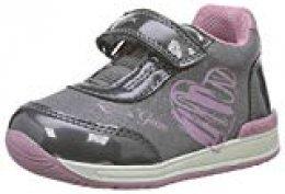 Geox B RISHON Girl B, Zapatillas para Bebés, Gris (Dk Grey/Pink C0952), 18 EU