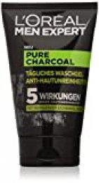 L'Oréal Men Expert, gel de lavado de carbón puro, contra las impurezas de la piel de los hombres (grano, espinillas, piel grasa y grasa) (2 x 100 ml)