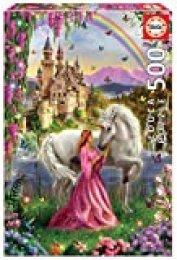 Educa- Puzzles 500 piezas, Hada y unicornio (17985)