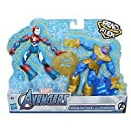 Avengers- Bend and Flex Figura Dualpack (Hasbro E91975L0)
