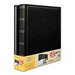 Brepols Jumbo - Juego de 2 álbums de Fotos Tradicionales (100 páginas, 500 Fotos de 10 x 15), Color Negro
