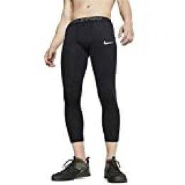 NIKE M NP Tght 3qt Pantalones de Deporte, Hombre, Black/(White), S