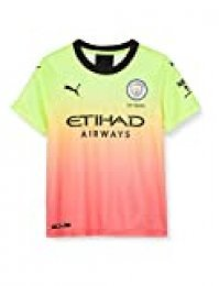 PUMA Manchester City FC Kids Replica Dodge Jersey, Unisex niños, Amarillo (Fizzy Yellow-Georgia Peach), 110