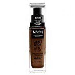NYX Professional Makeup Base de maquillaje Can't Stop Won't Stop Full Coverage Foundation, Larga duración, Waterproof, Fórmula vegana, Acabado mate, Tono: Deep Cool