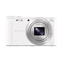"Sony DSC-WX350,  Cámara compacta de 18.2 Mp (pantalla de 3"", zoom óptico 20x, estabilizador, vídeo Full HD), blanco"