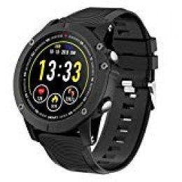 HolyHigh Reloj Inteligente Smartwatch Hombre Impermeable IP68 Pulsera de Actividad Reloj Bluetooth 1.3 Pulgadas Pantalla con Monitor de Ritmo Cardíaco/Sueño, Podómetro para iOS Android