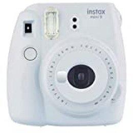 Fujifilm Instax Mini 9 - Cámara instantanea, solo cámara, Blanco (Smoky White)