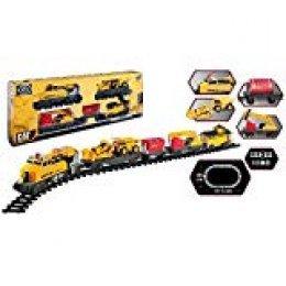 Toy State- Cat Tren Construcción Express, Color Amarillo (55650)