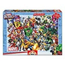 Educa Borrás- Serie puzzle 1000 piezas, Los héroes de Marvel, Color, 37.1 x 27.2 x 5.6 (15193)