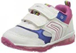 Geox B Todo Girl B, Zapatillas para Bebés, Blanco (White/Fuchsia C0563), 23 EU