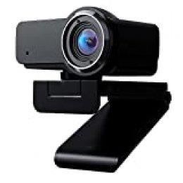 (gestionado por Amazon) cámara Web 1080P HD, cámara Web incorporada micrófono cámara con Clip Web para computadora PC portátiles Skype Vedieo Call & Record Webcam (Web 1)