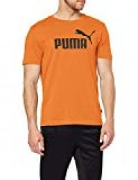 Puma ESS Logo tee Camiseta, Hombre, Naranja (Jaffa Orange), M