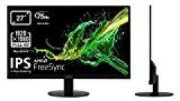 "Acer SA270Abi, Monitor de 27"", Display IPS Full HD (1920x1080), 75 Hz, VGA, HDMI, Negro"