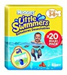 Huggies Little Swimmers S - Pañales, talla 2-3 (3-8 kg), 8 paquetes de 12 [96 pañales] 100 pezzi