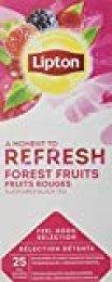 Lipton Gama Sensaciones Té Negro Frutos del Bosque, 25 sobres