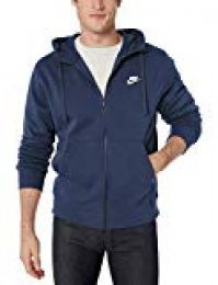 Nike M NSW Club Hoodie FZ BB Sweatshirt, Hombre, Midnight Navy/Midnight Navy/(White), 3XL-T