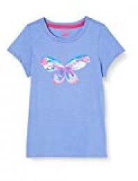 Hatley Short Sleeve T-Shirts Camiseta, Azul (Soaring Butterfly 400), 5 años para Niñas