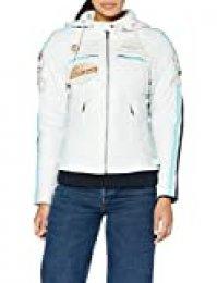 Urban Leather 58 Leren Bikerjack, Chaqueta de Moto para Mujer, Blanco (White), 50 / 4XL