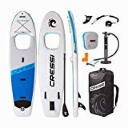 "Cressi Kinilau, Tabla de Stand Up Paddle Hinchable de Travesía, 10Ž6"", Blanco/Azul"