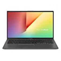 "ASUS VivoBook 15 S512JA-BR192T - Portátil de 15.6"" (i3-1005G1, 8 GB RAM, 256 GB SSD, Windows 10 Home en modo S) Gris Pizarra - Teclado QWERTY español"