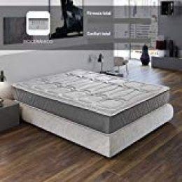ROYAL SLEEP Colchón viscoelástico Carbono 150x190 firmeza Alta, Gama Alta, Efecto regenerador, Altura 29cm. Colchones Ceramic Premium