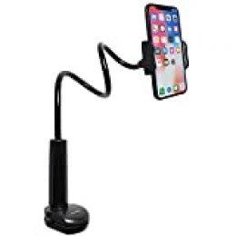 Tryone Flexible Soporte móvil Teléfono – Soporte con Cuello de Cisne Brazo para iPhone Series/Celulares Samsung/Huawei/Google Pixel y más, Longitud Total 27.5 Pulgadas
