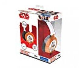 Star Wars HP015SW Auriculares Estéreo, Diadema Ajustable Y Plegable, Casco Audio (Lexibook, Color Negro, 20,4 x 16,8 x 73 cm