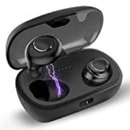 Auriculares Bluetooth, Kissral Auriculares inalámbricos Bluetooth Auriculares inalámbricos en la oreja con estuche de carga 550mah Auriculares estéreo con micrófono para Iphone y Android