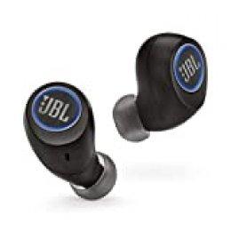 JBL Free - Auriculares inalámbricos con Bluetooth y cancelación de ruido, JBL Signature Sound, 24 h de música continua y estuche de carga inteligente, negro
