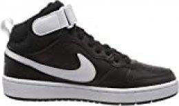 Nike Court Borough Mid 2 (GS), Zapatillas de Trail Running Unisex niños, Multicolor Negro y Blanco 010, 38.5 EU