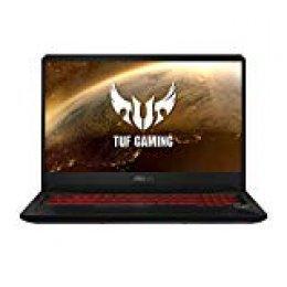 "ASUS TUF Gaming FX705GD-EW082 - Ordenador portátil de 17.3"" (Intel Core i7-8750H, 8 GB RAM, 1 TB HDD y 128 GB SSD, GeForce GTX1050, sin Sistema operativo) Negro y Rojo - Teclado QWERTY Español"