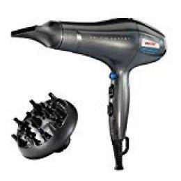 Imetec Salon Expert P3 3200 Secador de pelo profesional, 2200W, rejilla con revestimiento de cerámica, tecnología de iones, 8 combinaciones de aire y temperatura