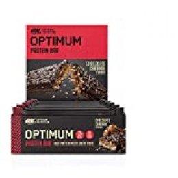 Optimum Nutrition ON Protein Bar Barritas Proteínas con Whey Protein Isolate, Dulces Altas en Proteína y Low Carb, Chocolate y Caramelo, 10 Barras (10 x 60 gr)