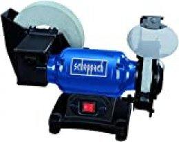 SCHEPPACH BG200W Amoladora de Banco con Disco de Afilado en Agua y Disco de Afilado en Seco para todo Tipo de Herramientas, 250W, Azul