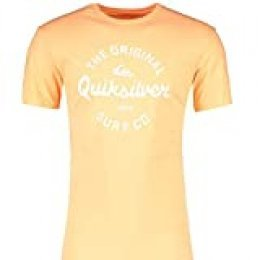 Quiksilver Eye On The Storm - Camiseta para Hombre Screen tee, Hombre, Coral Sands, XL