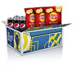 Lay's & Pepsi Max Pack Caja UEFA Champions League (3 x Bolsas Lay's al Punto De Sal 300G y 5 x Latas Pepsi Max 330mL)