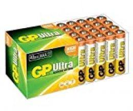 GP Batteries Ultra Alkaline 40x AAA Alcalino 1.5V batería no-Recargable - Pilas (Alcalino, Cilíndrico, 1,5 V, 40 Pieza(s), AAA, Verde, Blanco)