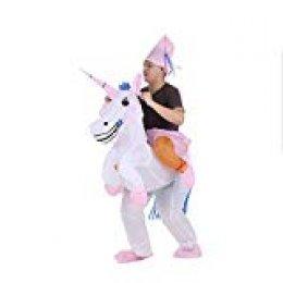 Anself - Disfraces Inflable De Unicornio Traje De Cosplay Fiesta,Para Adulto 1.6m-1.8m