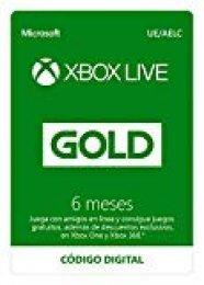 Suscripción Xbox Live Gold - 6 Meses | Xbox Live - Código de descarga