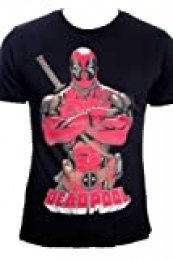 Deadpool Pose Camiseta, Color Negro, Small (CD002POOL-S-Black)