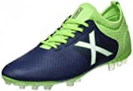 Munich Tiga Football, Zapatillas de Deporte Unisex Adulto, Azul (Azul Marino/Verde 26), 45 EU