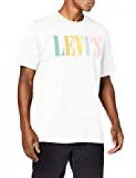 Levi's Relaxed Graphic tee Camiseta, Blanco (90's Serif Logo D3 White 0038), XX-Large para Hombre