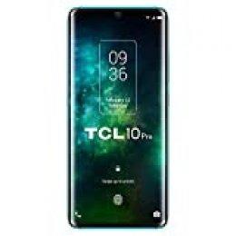 """TCL 10 Pro – Smartphone de 6.47"""" FHD+, con NXTVISION, Procesador Pantalla, Octacore, 6GB Ram, Memoria 128GB, Ampliable MicroSD, 4 Cámaras 64MP+16MP+5MP+2MP, Frontal 24MP, 4500 mAh de Batería, Verde"""